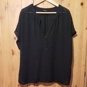 black blouse - banana republic